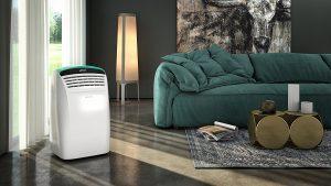 climatiseur portable au salon